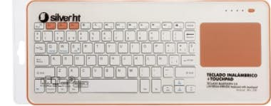 Silver HT SilverHT Touchpad Wireless KB White + Peach Blueto