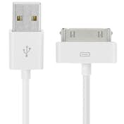 Avizar Cable USB a conector Apple 30 pin - Blanco