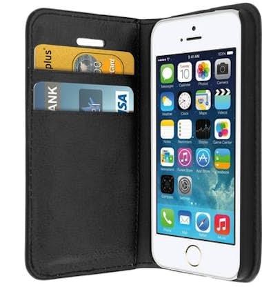 993a8bc9908 Comprar Funda iPhone 5 / 5S / SE de cuero billetera Función soporte ...