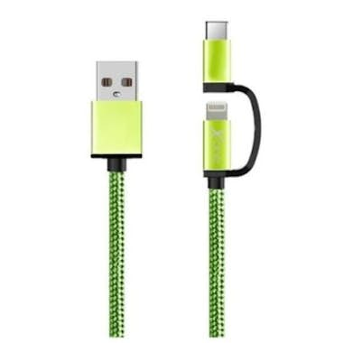 ONE Cable USB para iPad/iPhone Ref. 101110 | Verde