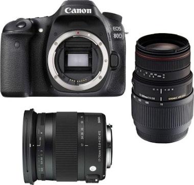 Canon Canon EOS 80D + Sigma 17-70 Contemporary + Sigma 7
