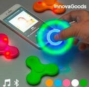 InnovaGoods Spinner LED con Altavoz y Bluetooth Naranja Color