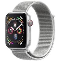 Apple Watch Series 4 GPS 40 mm aluminio en plata correa Loop deportiva nácar