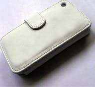 Generica Funda para Iphone 3G con clip color blanco