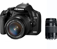 Canon EOS 500 D Kit + EF-S 18-55 mm + DC 75-300 mm