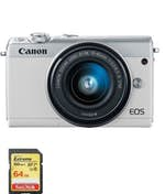 Canon CANON EOS M100 Blanco KIT EF-M 15-45mm F3.5-6.3 IS