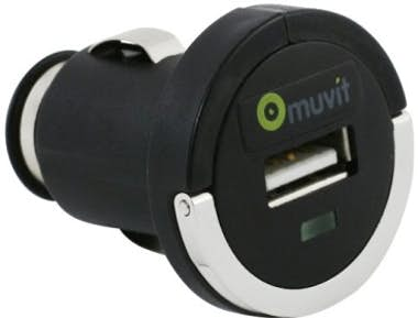 Muvit Mini adaptador coche USB anilla (sin cable)