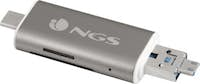 NGS NGS ALLYREADER USB/Micro-USB Gris, Color blanco le