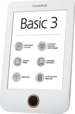 PocketBook Pocketbook Basic 3 8GB Wifi Negro, Blanco lectore