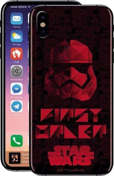 Disney Funda TPU Transparente First Order para Apple iPhone X Star