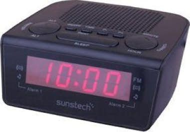Sunstech Sunstech FRD18 Reloj Digital Negro radio
