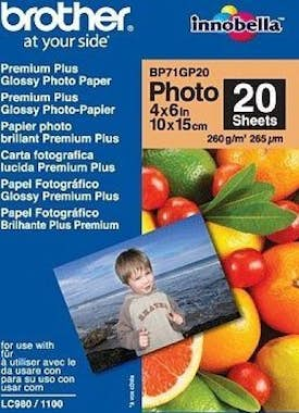 Brother Brother BP71GP20 Premium Glossy Photo Paper Blanco