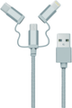 ME! Cable datos y carga MicroUSB, USB-C y Lightning