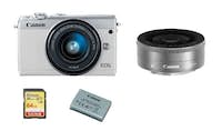 Canon CANON EOS M100 Blanco TWIN KIT EF-M 15-45mm F3.5-6