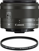 Canon EF-M 15-45mm f/3.5-6.3 IS STM + HOYA PRO1D PROTECT