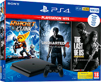 Sony Playstation 4 Slim 500 GB + The Last of Us + Uncha