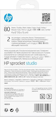 HP HP Sprocket Studio Ink and Photo Paper-80 sht/10 x