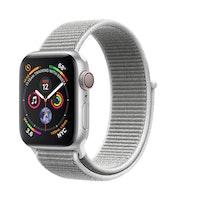 Apple Watch Series 4 GPS + Cellular 40 mm aluminio en plata y correa Loop deportiva nácar