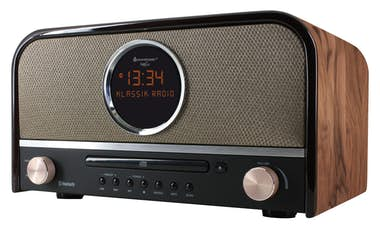 Soundmaster Soundmaster NR850 radio Reloj Digital Marrón