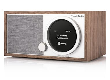 Generica Tivoli Audio ONE DIGITAL radio Portátil Nuez, Blan