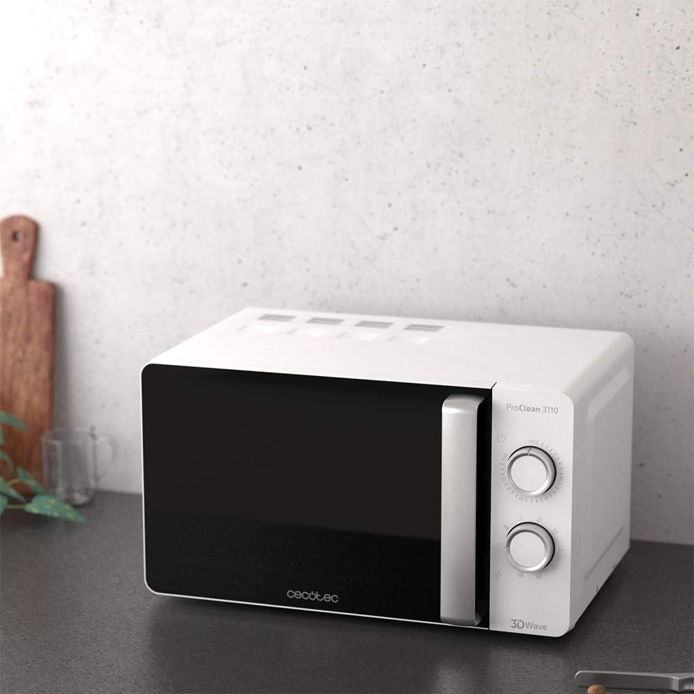 700 W sistema 3DWave Cecotec ProClean 3110 color negro 20 litros Microondas