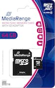 MEDIARANGE MediaRange MR955 memoria flash 64 GB MicroSDXC Cla