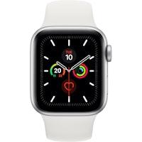Apple Watch Series 5 GPS 40 mm aluminio plateado correa deportiva blanco