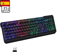 KLIM KLIM Chroma Wireless - Teclado inalámbrico gaming