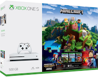 Microsoft Xbox One S 500GB + Minecraft Complete Adventure