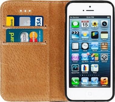 b3012604511 Comprar Funda billetera para iPhone 5 / 5S / SE Cuero auténtico ...