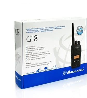 Midland Midland G18 - PMR446 8channels 446.00625 - 446.093
